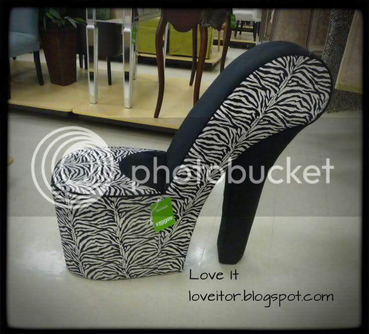 Sexy Zebra Stiletto Chair