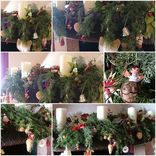 fireplace christmas decoration