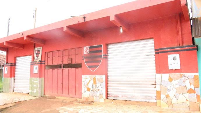 Bar temático do Flamengo na Avenida Rio Madeira, em Porto Velho (Foto: Hugo Crippa)