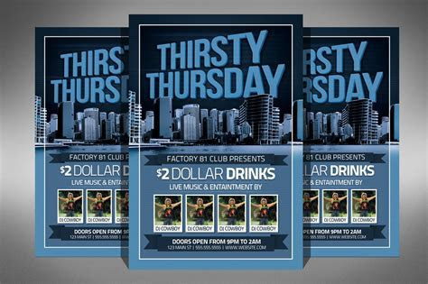 Thirsty Thursday Club Flyer ~ Flyer Templates ~ Creative