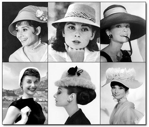 Resultado de imagen para audrey hepburn hats