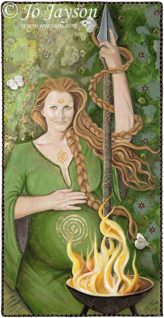 """""""Brighid Morther Goddess of Ireland"""" by Jo Jayson"""