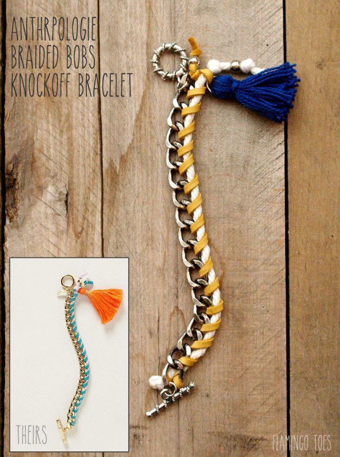 Anthropologie Braided Bobs Bracelet Knockoff