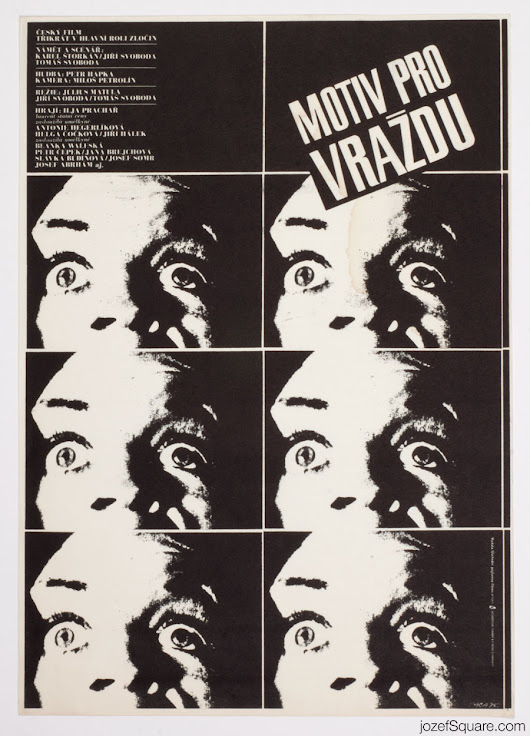 Movie Poster – Motive for Murder, Karel Vaca, 1975