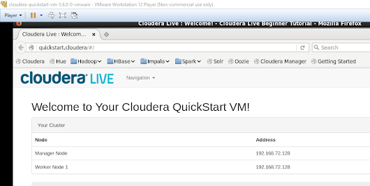 Working with Cloudera's VM and Python and R