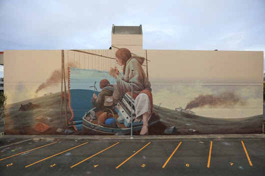 Pat Perry in Napier, New Zealand | street art united states