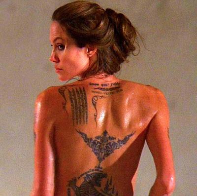 angelina jolie tattoo Comments Glitter Graphics Myspace