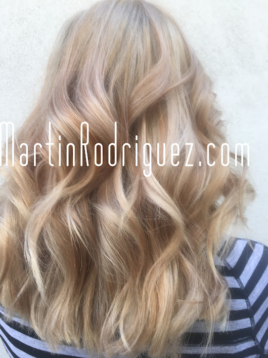 Balayage hair color by professional colorist Martin Rodriguez