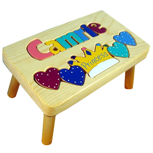 Personalized Kid Stools Puzzle Personalized Products By