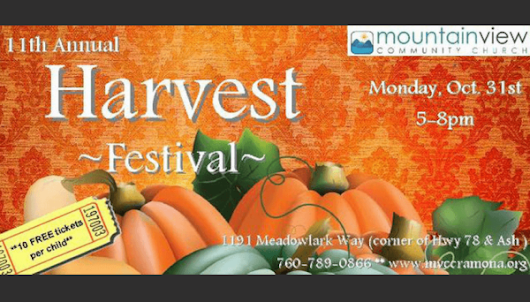 Halloween and Church Harvest Festivals 2016 in the North County Inland San Diego • What Says You, Jennylou?