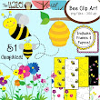Bee Set {Bee Clip Art, Frames, & Digital Papers}: Graphics for Teachers