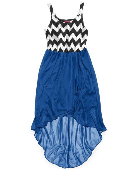 ruby rox girls chevron print high  dress kids girls