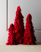 "Arcadia Home ""Artisan"" Red Felt Christmas Trees"