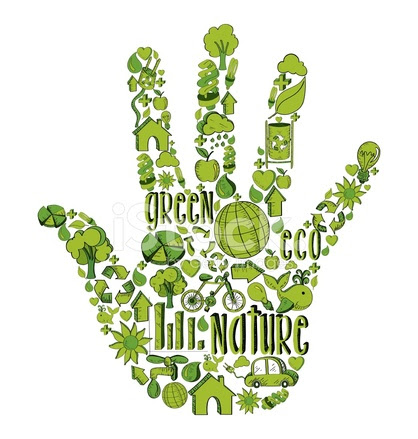 25264217 go green hand