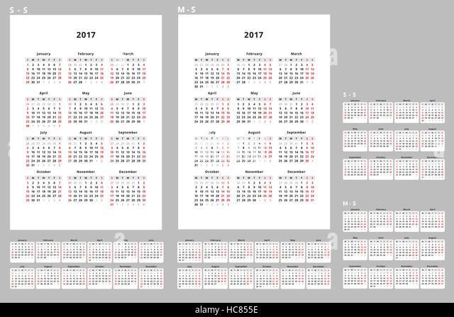 November Vector Flat Daily Calendar Stock Vector Images - Alamy