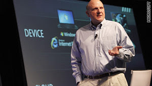 Microsoft CEO Steve Ballmer speaks at this week's Microsoft PDC conference.