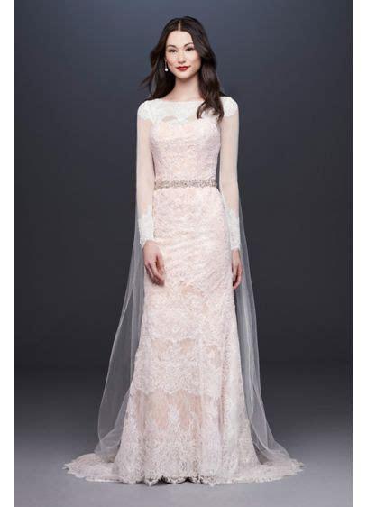 Oleg Cassini Illusion Long Sleeve Wedding Dress   David's