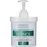Advanced Clinicals Retinol Advanced Firming Cream - 16 oz pump bottle