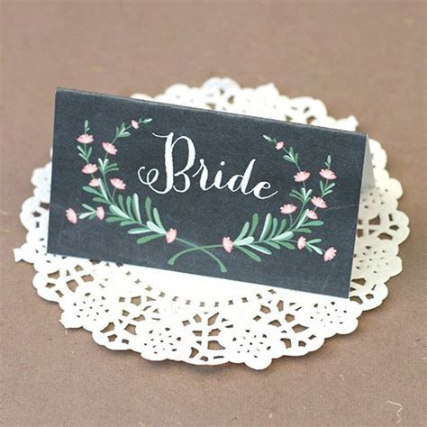Wedding Place Cards & Printable Reception Place Cards
