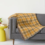 Brown and Orange Tartan Plaid Throw Blanket