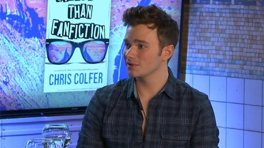 Glee Fans Live: Chris Colfer promoting his new book #StrangerThanFanfiction
