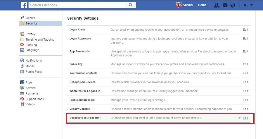 Cara menonaktifkan account Facebook