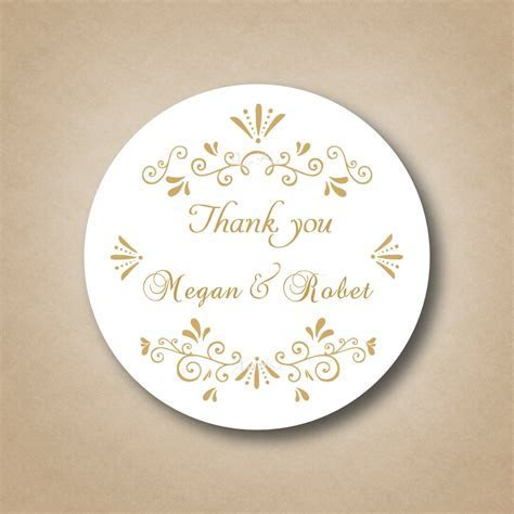 Customized Gold Wedding Favor Labels ,Golden Stickers