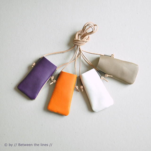 Two-tone leather cell phone cases