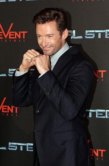 English: Hugh Jackman at the premiere for Real...