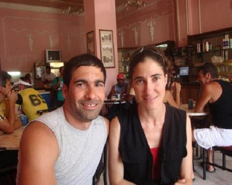 Gozá con Yoani Sánchez en el hotel Inglaterra, en Cuba, en la primavera de 2009