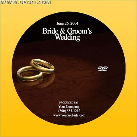 Wedding recordable DVD CD cover design template PSD