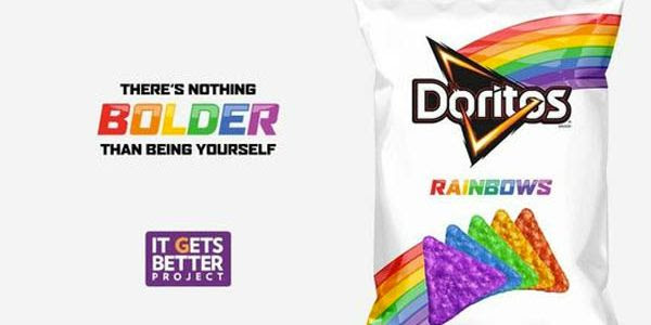 Frito-Lay has teamed up with the It Gets Better Project to offer LGBT-themed Doritos to those who donate $10. (Image: It Gets Better Project)