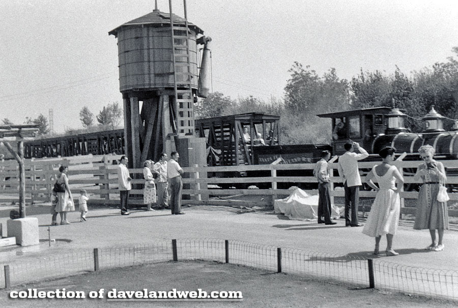 Disneyland Frontierland Depot vintage August 1956 photo