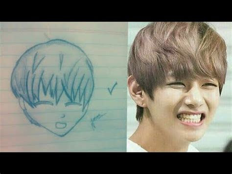 Anime Drawing Of Bts