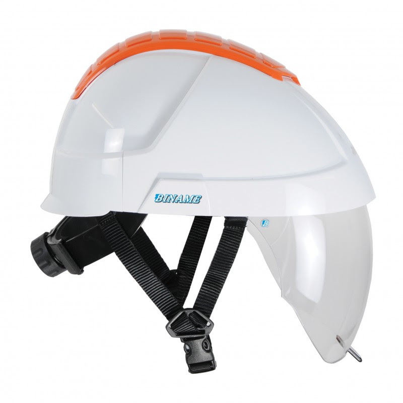 Hard hat with integrated faceshield - BINAME