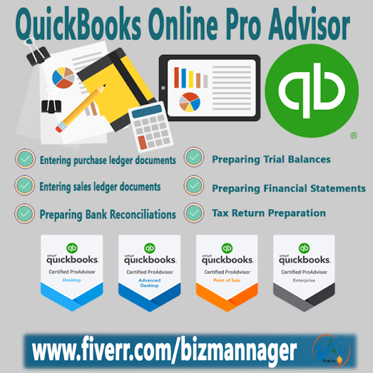 bizmannager : I will do bookkeeping and accounting of your business for your CPA for $30 on www.fiverr.com