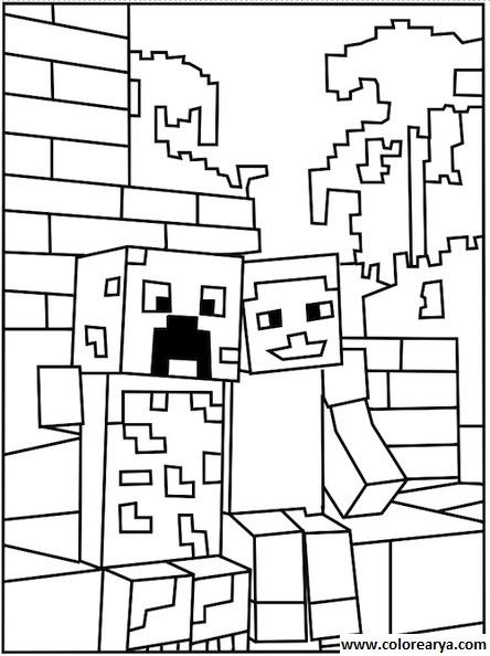 Imagenesparacolorear Website Dibujos Para Colorear Minecraft