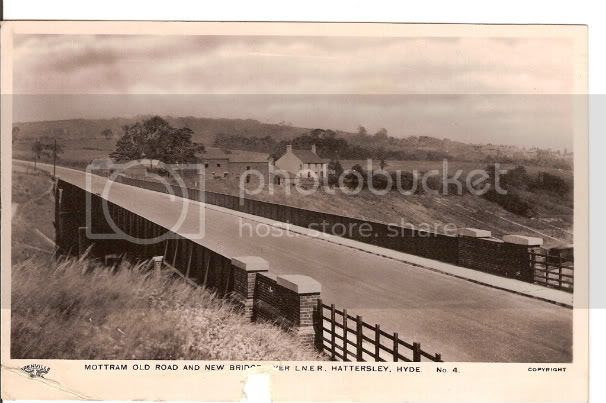 Mottram Old Rd & New bridge over L.N.E.R. railway line