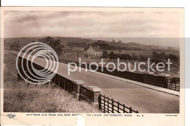 Mottram Old Rd & New bridge over L.N.E.R. railway line