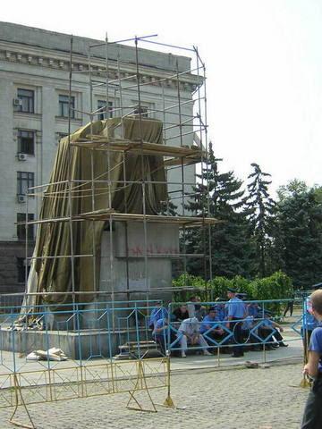 Фото Одессы Куликово Поле памятник Ленину в Одессе