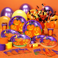 Pumpkin Cheer Halloween Deluxe Party Kit