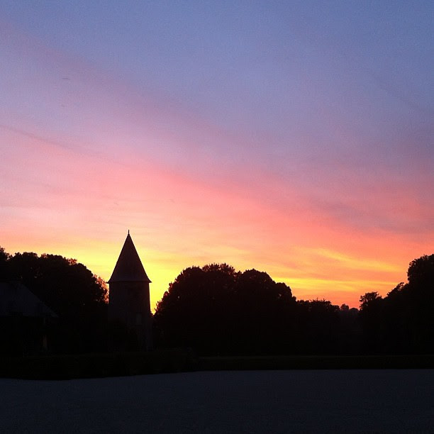 Sunset at the château. #normandy