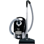 Miele - Compact C1 Turbo Team Canister Vacuum - Obsidian Back