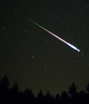 Een heldere meteoor