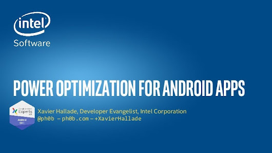 Power optimization for Android apps