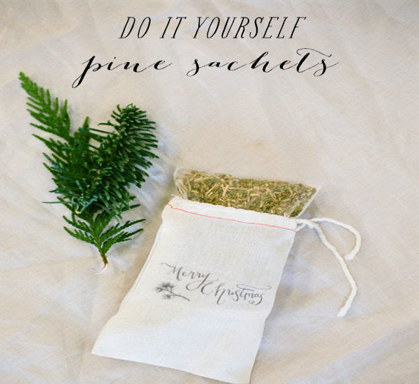 SMP At Home: DIY Pine Sachets   Style Me Pretty