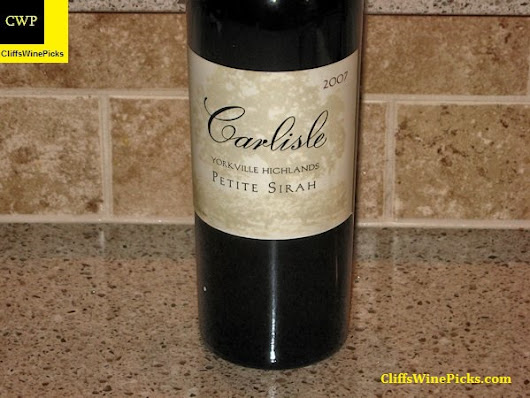 Wine of the Week – 2007 Carlisle Petite Sirah Yorkville Highlands