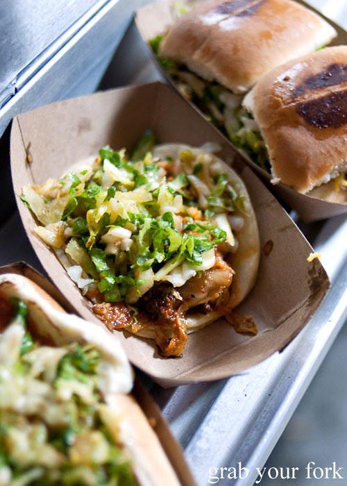 short rib tacos from kogi bbq truck in la los angeles roy choi food truck