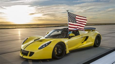 wallpaper hennessey venom gt spyder yellow flag usa