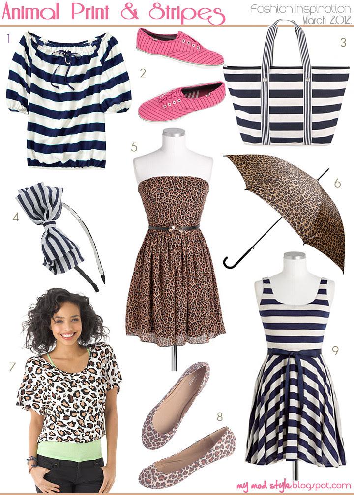 fashion inspiration animal print and stripes